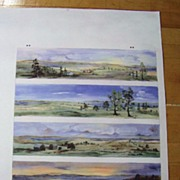 SALE PENDING Vintage Unique 1980's Mackenzie Childs Watercolor Print
