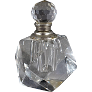 Vintage Fancy Faceted Glass Perfume Bottle Stopper Dauber