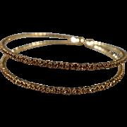 SALE Vintage Cuff Bracelet Yellow Gold Tone Multi Round Amber Golden Citrine Colored Rhineston