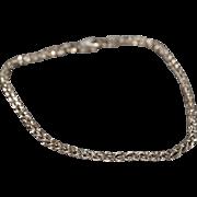 SALE Vintage Bracelet Sterling Silver Italian Fancy Woven Link Line Style    #1047
