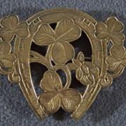 SALE Vintage Brass Horse EquestrianPin Brooch