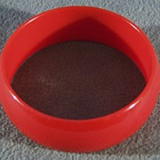 SALE Vintage  Cherry Red Bakelite Wide Bangle Bracelet