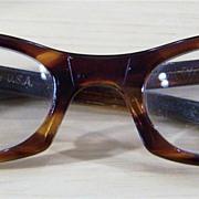 Aurora Rhinestone Faux Tortoise Eye Glass Frames