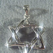 SALE Vintage Sterling Silver Bold Star of David Pendant Charm
