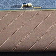 Authentic  Guy LaRoche Fabric Leather Organizer  Wallet