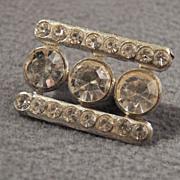 SALE Vintage Eye Catching Rhinestone Brooch, So Pretty! ~~
