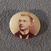 SALE Vintage Male Figurine Mourning Pin Brooch