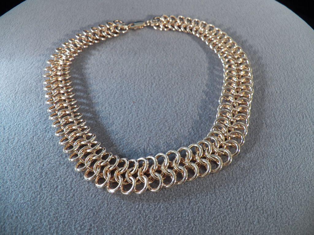 Vintage Goldtone Heavy Link Necklace **