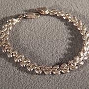 Vintage Sterling Silver Italian Bold  Raised Domed Link Bracelet