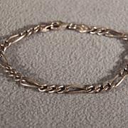 Vintage Sterling Silver Italian Bold Oblong Link Bracelet
