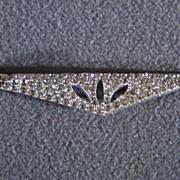 SALE Vintage bold  clear rhinestone pin  brooch