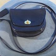 SALE Authentic Vintage Coach black  leather  hand bag purse black     W