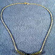 SALE Vintage 10 K Yellow Gold Multi Chrome Diopside Diamond Bib Lavaliere pendant Charm ...