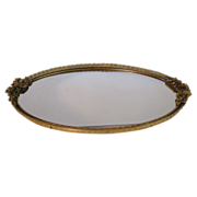 SALE Matson Tray Roses Vanity Mirror 24Kt.