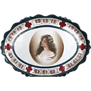 Antique Platter Constance Portrait