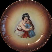 SALE Plate Portrait Royal Bonn Franz Anton Mehlem