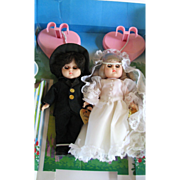 SALE Doll Ginny Bride and Groom MIB Vogue