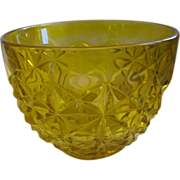 SALE Bowl Indiana Glass Monticello Yellow Mist Comport