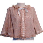 1950s Odette Barsa Bed Jacket Lace