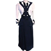 1940s Suit Dress with Bolero Nautical New Look