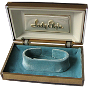Vintage Lady Elgin Watch Box Lucite