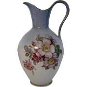 Vintage Imperial Ewer Germany Wild Rose Blue