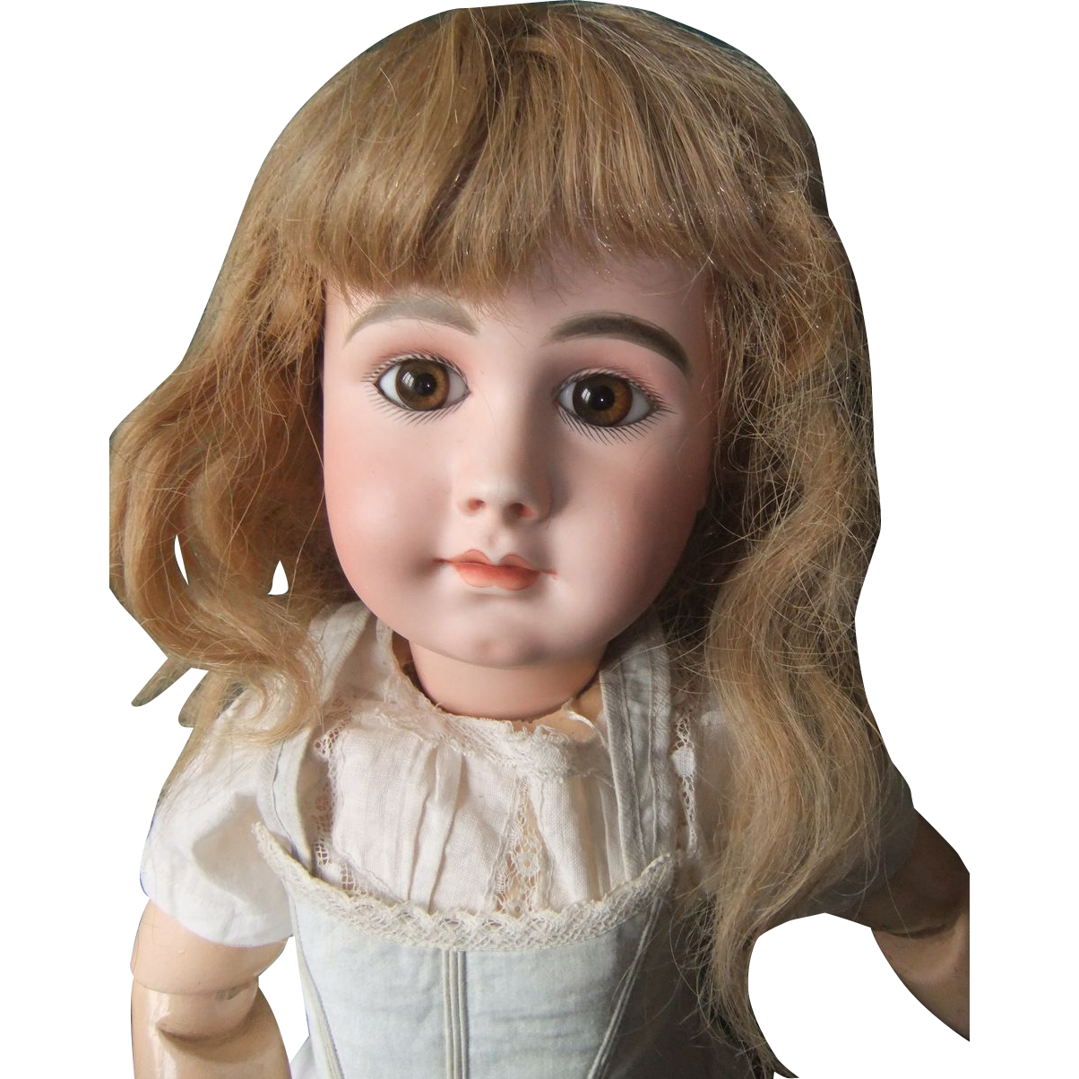 Nice antique human wig for french or german doll.