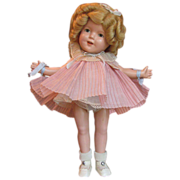 """SOLD Thank you 'L'_Shirley Temple Doll_Mint in Box_13""""_Circa 1930's_Ideal Doll Co_USA"""