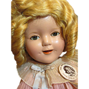 SOLD Thank you 'L'_Pristine Shirley Temple 1930's in box Composition Doll_they don't get bette