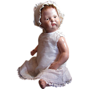 """SOLD Thank you 'R'_Schoenhut 16"""" Spring Jointed Baby with 4 pc outfit_Jointed at neck, sh"""