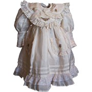 """Ribbon Embroidery and detailing Silky Ecru dress_fits 20"""" doll"""