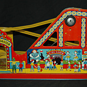 Vintage Chein Tin Litho Wind-up Roller Coaster Toy