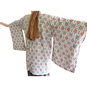 Lovely Vintage Japanese Haori Jacket, Beautiful Fabric!