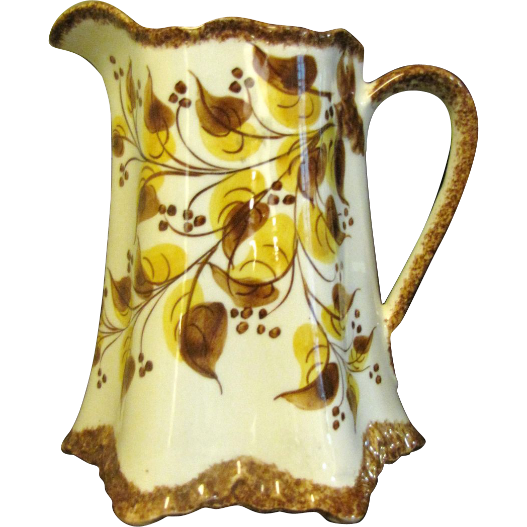 Large Clinchfield Artware Erwin TN Hand Painted Pottery Pitcher