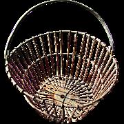 SALE Fabulous 1900's Large Wire Gathering Basket
