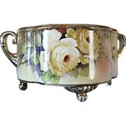 SALE 1918 Hand Painted Noritake Gilt Floral Bowl