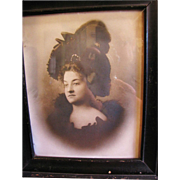 Wonderful Framed Victorian Photograph of Beautiful Lady
