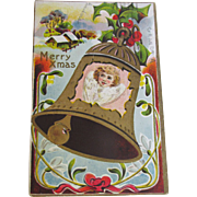SALE 1911, Merry Xmas Embossed Post Card copyright by Florense Bamberger