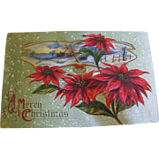 "SALE 1915‏, ""A Merry Christmas"" Embossed B.P.C. 284 Post Card"