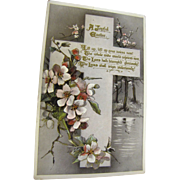 "1911, ""A Joyful Easter"" Tuck's Post Card Easter series no. E. 3636 Made in England"