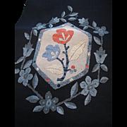 Vintage Woven Silk Nagoya-obi Lovely Colors