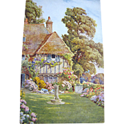 SALE 1885, An English House & Garden, Postcard Published by J Salmon, 1885