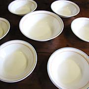 "SALE Nice Set of Six 7""  Bowls + Serving Bowl, Corning Country Cornflower"