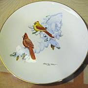 "SOLD Halbert's  ""Cardinal in Snow""1974 by Albert Earl Gilbert"
