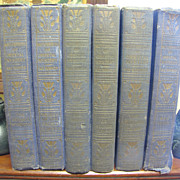 """SOLD 1916-21, """"Masterpieces of Oriental Mystery"""" by Sax Rohmer, 6 Book Set - Red"""