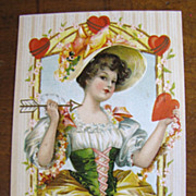 "1910 ""To My Valentine"" Embossed Postcard Printed in Germany‏"