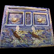 SALE Hunting Theme Pheasant Ceramic Desk Tidy