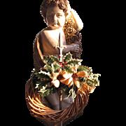 SALE Pretty Small & Rustic Vintage Christmas Wreath