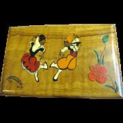 Fun Little Vintage Music Jewelry Box, Sankyo Movement