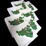 """SALE Nice Set of Seven 14"""" Christmas Cotton Napkins"""